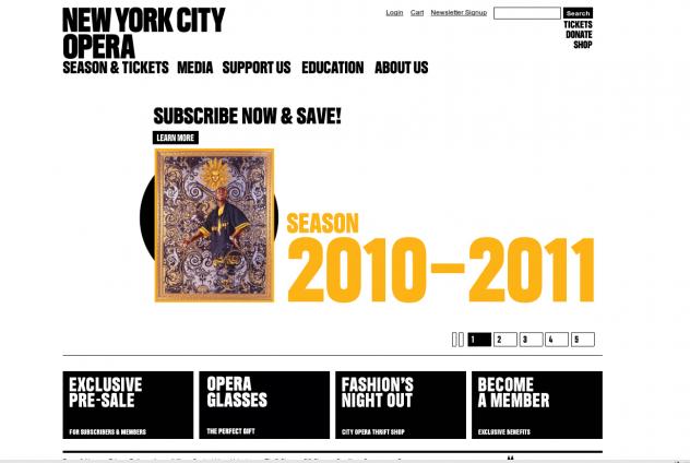 Screenshot http://www.nycopera.com