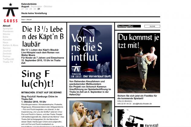 Screenshot http://www.thalia-theater.de