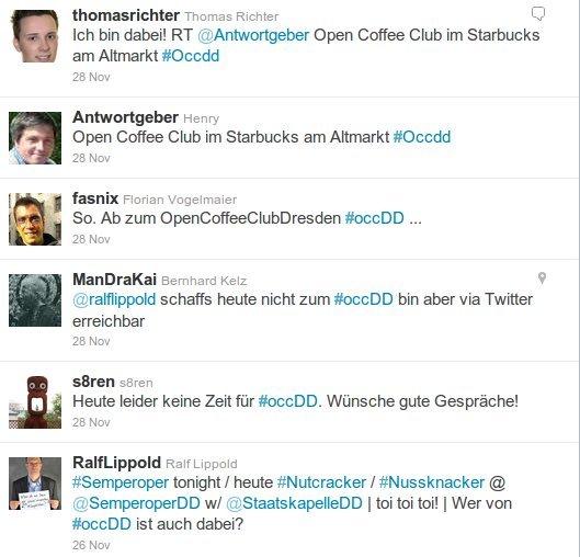 OpenCoffeeClub auf Twitter