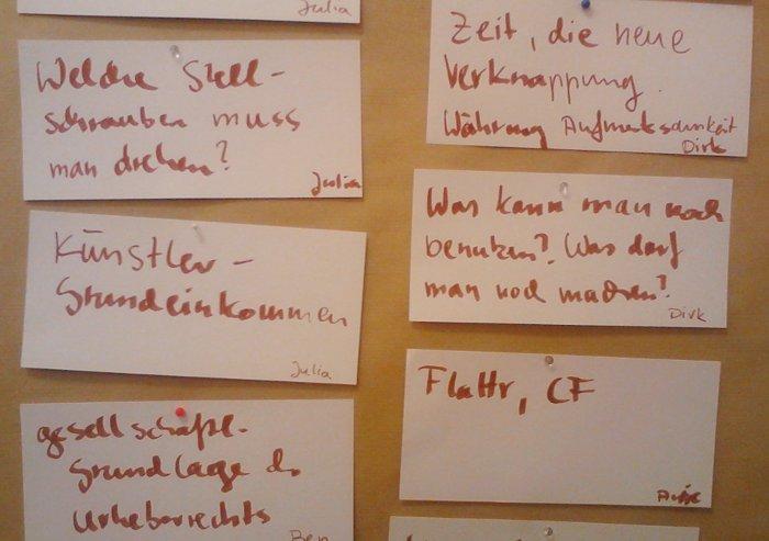 Barcamp Urheberrecht Mitschriften