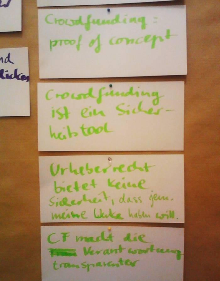 Barcamp Urheberrecht Mitschriften Crowdfunding