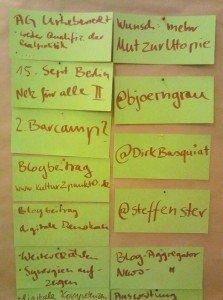 Barcamp Urheberrecht Mitschriften Ausblick