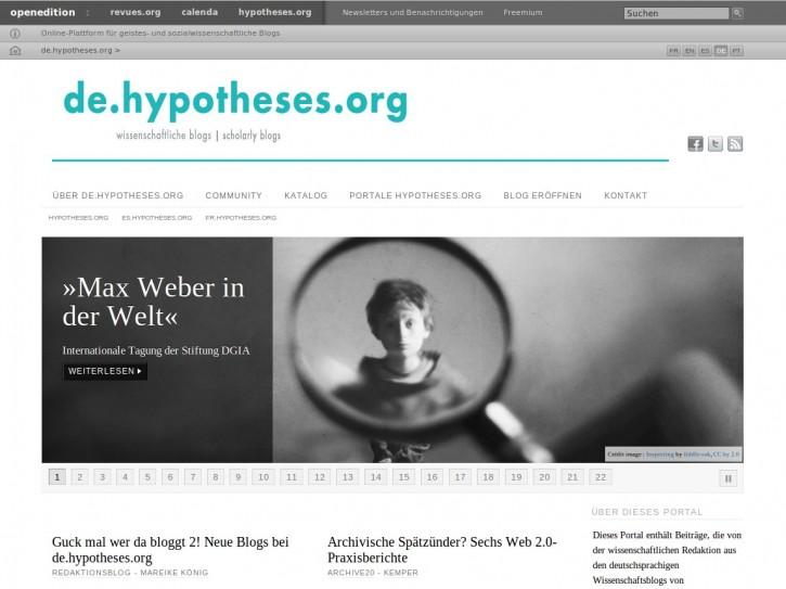 Screenshot de.hypotheses.org