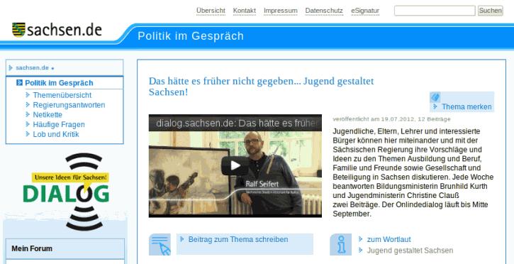 Screenshot: dialog.sachsen.de
