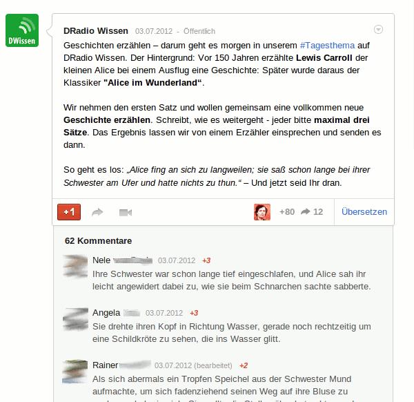 Storytelling auf Google+