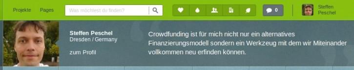 Screenshot Startnext.de