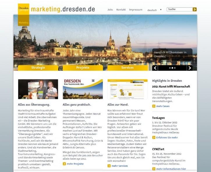 Dresden Marketing Webseite