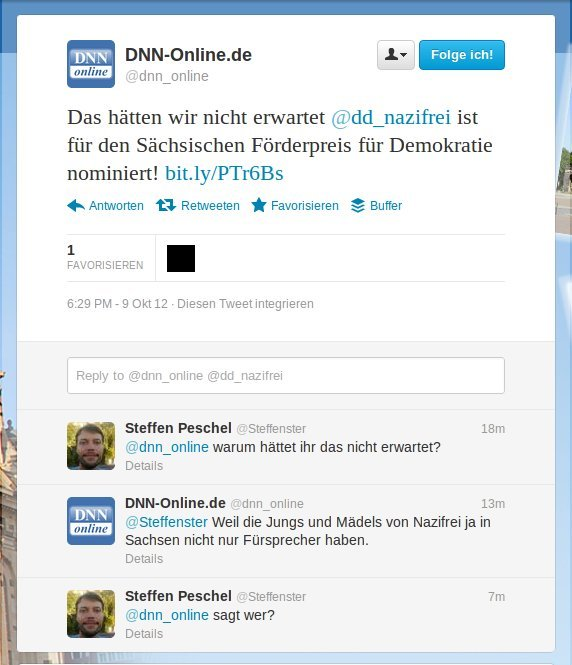 Screenshot von @dnn_online