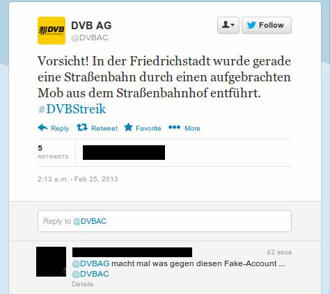 Fake Meldung DVBAC