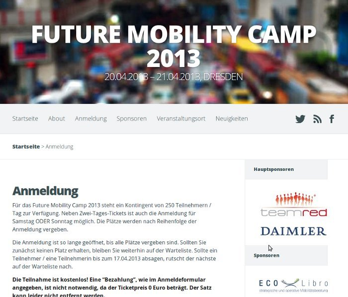 Future Mobility Camp Dresden