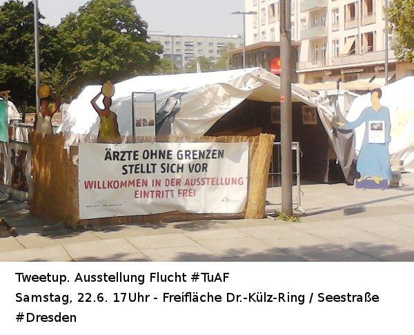 Tweetup Ausstellung Flucht 22.06. 17Uhr #TuAF